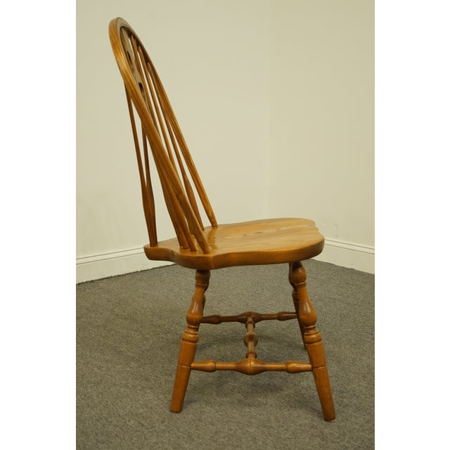Brown Late 20th Century Vintage S. Bent Bros. Grand Rapids Solid Oak Country Style Dining Side Chair For Sale - Image 8 of 11