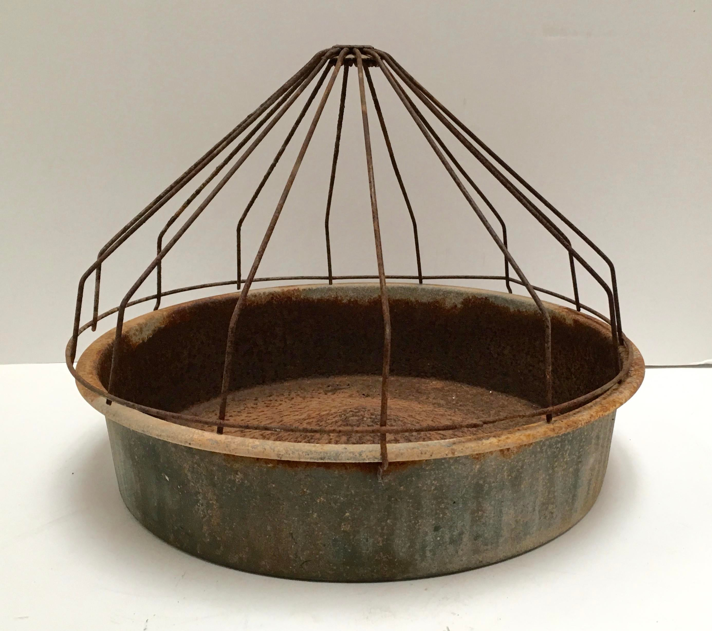 Captivating Hard To Find Chicken Feeder With Original Dome Attached. Center Of The  Bottom Tray Is