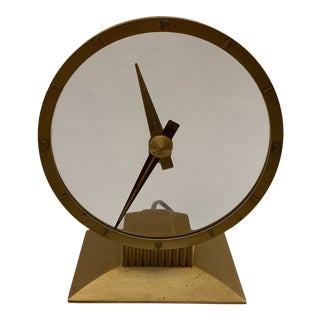 1950's Hollywood Regency Jefferson Golden Hour Electric Clock For Sale
