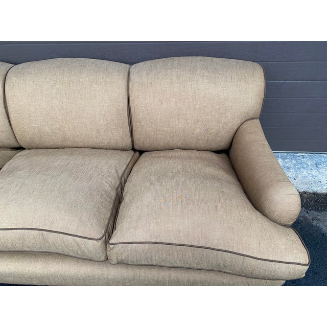 2010s George Smith Standard Arm Sofa For Sale - Image 5 of 8