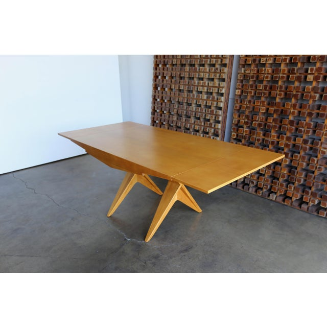 Mid-Century Modern 1940s Dan Johnson Dining Table For Sale - Image 3 of 10