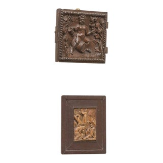 Jacobean Period Carved Oak Door depicting Bacchus, circa 1590 For Sale