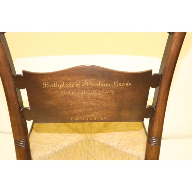 Wood 1970s Vintage Hitchcock Limited Edition Chair For Sale - Image 7 of 11