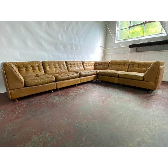 Mid-Century Modern Vatne Mobler Vintage Leather Sectional Sofa For Sale - Image 3 of 11