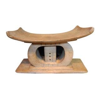 Old Ashanti Carved Wood Stool