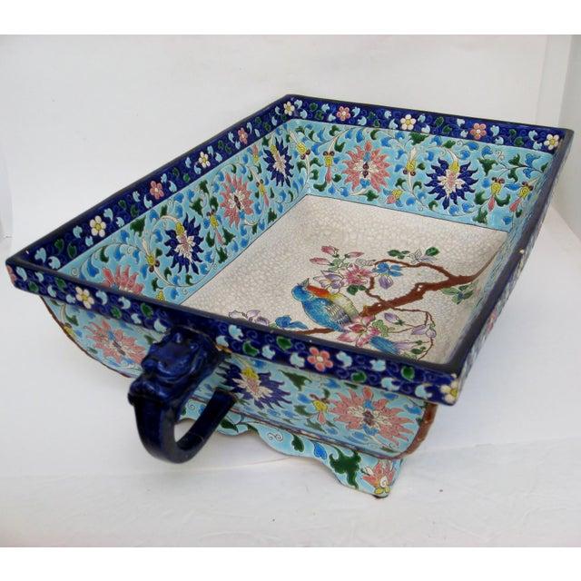 Longwy Ceramic Jardiniere For Sale In Los Angeles - Image 6 of 11