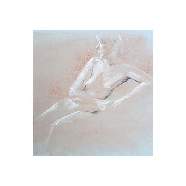 Nude Pastel Drawing by Pat Cantor - Image 3 of 6