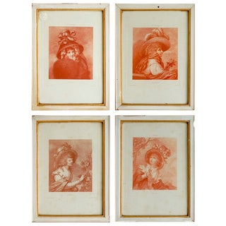 French Portrait Etchings - Set of 4 For Sale