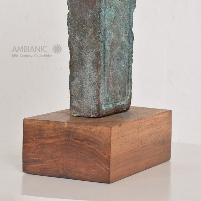 Myrna M Nobile Bronze Abstract Sculpture #6, Mid Century Period For Sale - Image 9 of 10