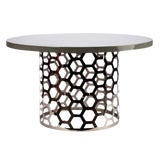 Image of Statements By J Laguna Dining Table With Gray Top For Sale