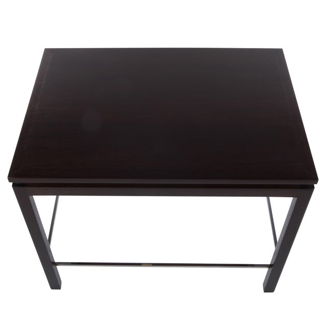 1960s 1960's Vintage Edward Wormley for Dunbar Walnut Side Table For Sale - Image 5 of 9