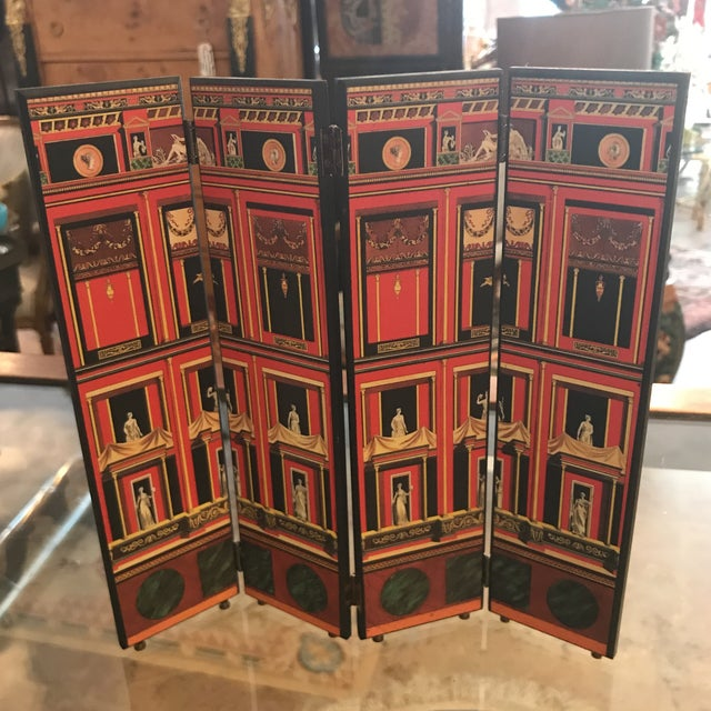 Fornasetti Miniature Decorative Screen For Sale - Image 9 of 9