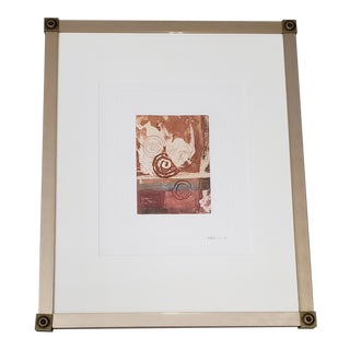 Michael Koller (American, 20th C.) Untitled Etching W/ Aquatint Signed & Numbered For Sale