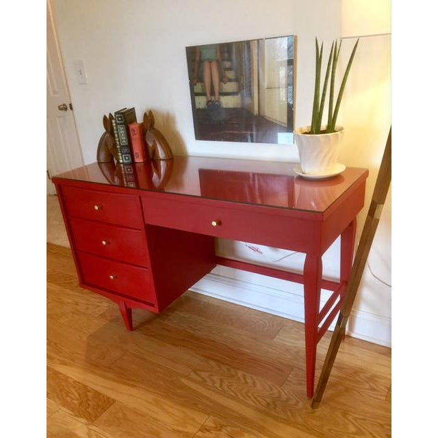 1960s Mid-Century Modern Emperor's Silk Writing Desk For Sale - Image 4 of 5