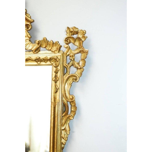 Rococo 19th Century Italian Rococo Style Giltwood Mirror For Sale - Image 3 of 9