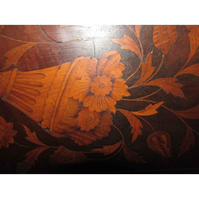 Traditional Tall Inlaid Dresser With Bronze Reliefs For Sale - Image 3 of 10
