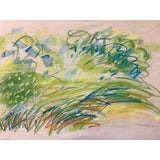 "Image of 1960s Pastel Drawing ""Pastel Landscape With Movement"" Nyc Artist For Sale"