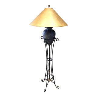 Maitland - Smith Verde Iron Floor Lamp For Sale