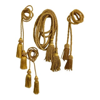 20th Century Gold Bullion Tassels - Set of 4 For Sale