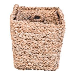 Sarreid Ltd. Newcastle Rush Baskets - Set of 3 For Sale