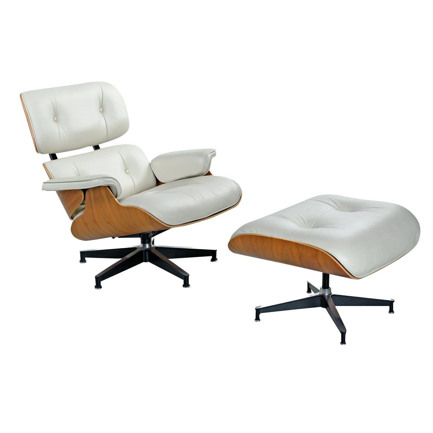 Walnut Eames Lounge Chair And Ottoman By Herman Miller In