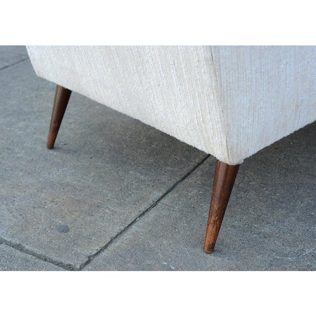 1950s Mid Century Modern Upholstered Lounge Chair For Sale - Image 9 of 11