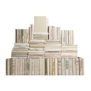 Modern Beach Book Wall : Set of One Hundred Decorative Books