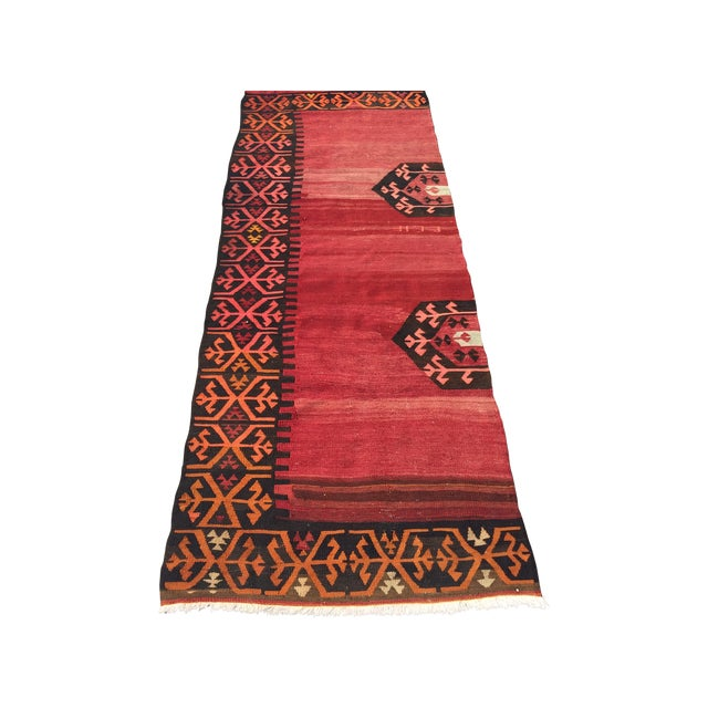Vintage Kilim Runner - 3′5″ × 9′2″ - Image 1 of 7