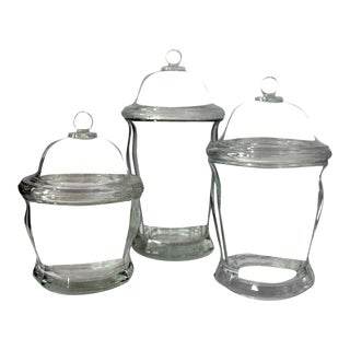 Mid Century Indiana Glass Drug Store Jars - Set of 3 For Sale