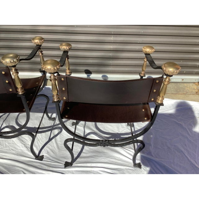 1960s Italian Savaronola Style Chairs, a Pair For Sale - Image 11 of 12