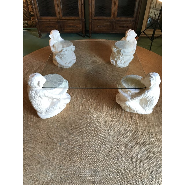 Hollywood Regency Vintage Monkey Glass Coffee Table For Sale - Image 13 of 13