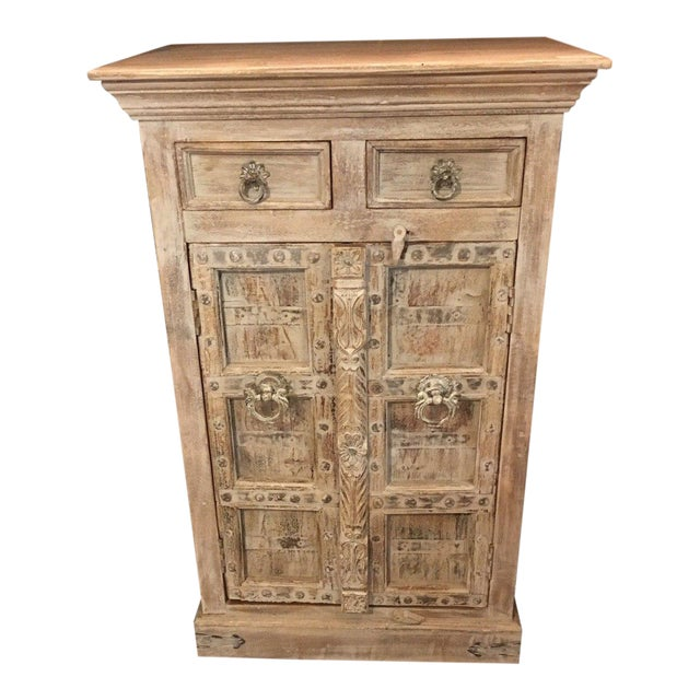 Small Whitewashed Cabinet For Sale