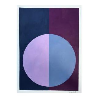 """Indigo & Violet Forever"" Acrylic Painting"