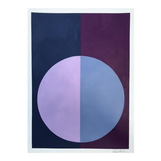 "Original ""Variation on a Circle: Violet and Indigo"" Painting"