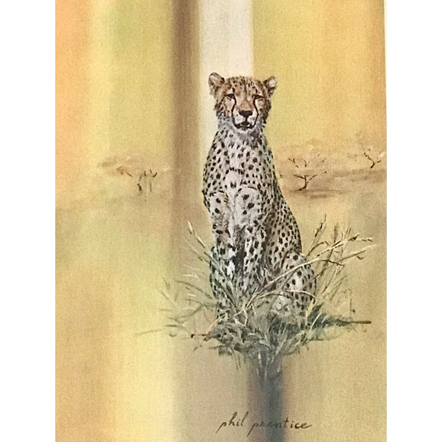 Boho Chic Midcentury 1970s Leopard Cheetah Wall Art For Sale - Image 3 of 7