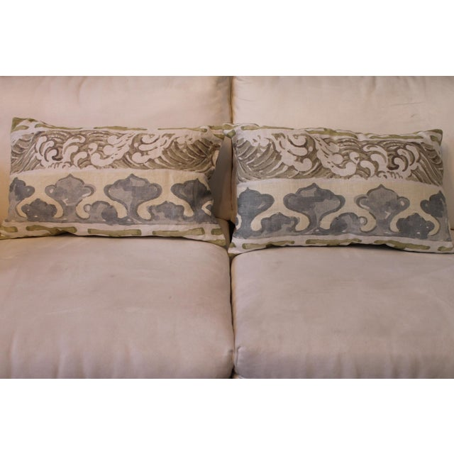 2010s Jim Thompson Enter the Dragons Fabric Pillows - A Pair For Sale - Image 5 of 5