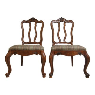 Ethan Allen Tuscany French Carved Dining Room Chairs- A Pair For Sale