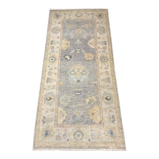Hand-Woven Turkish Oushak Rug For Sale