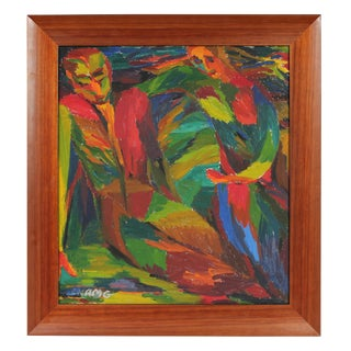 A. Granick Bright Figures Oil Painting