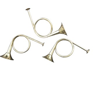 1980s Holiday Brass French Horns - Set of 3 For Sale