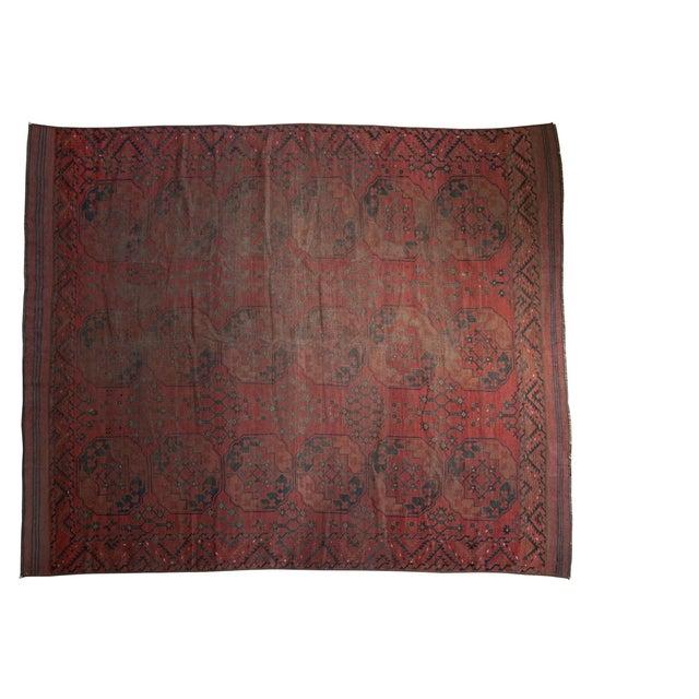 "Vintage Ersari Carpet - 8'2"" X 9'8"" For Sale - Image 10 of 10"