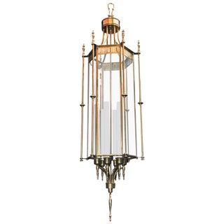 Large Beautiful Brass Lantern For Sale