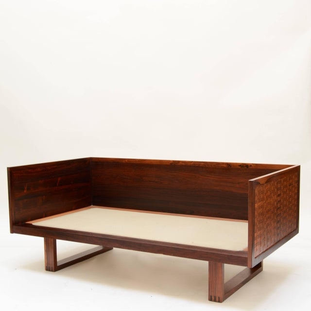 Brown Poul Cadovius Two-Seat Sofa and Chair Set in Rosewood for France & Son For Sale - Image 8 of 10