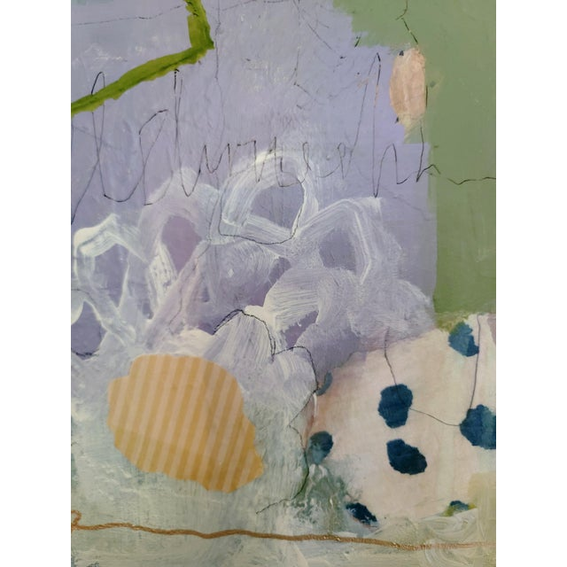 """Abstract """"All of Space and Time Together"""" Contemporary Abstract Mixed-Media Painting by Mary Kaiser For Sale - Image 3 of 5"""