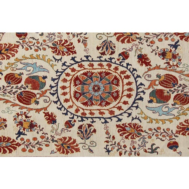 Tribal Kurjean Garish Herman Ivory/Red & Wool Rug 6'9 X 9'10 A8283 For Sale - Image 3 of 7