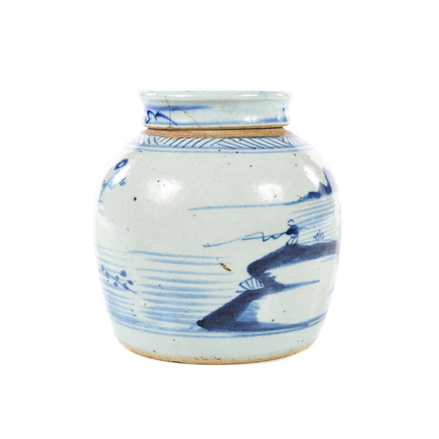 Antique Chinese Blue & White Jar For Sale - Image 5 of 9