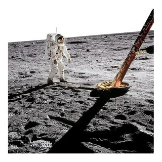 Autographed Buzz Aldrin Apollo 11 'Inspecting the Eagle' Art Print For Sale