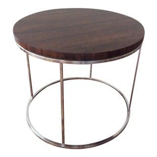 Modern Milo Baughman Rosewood & Chrome Table For Sale
