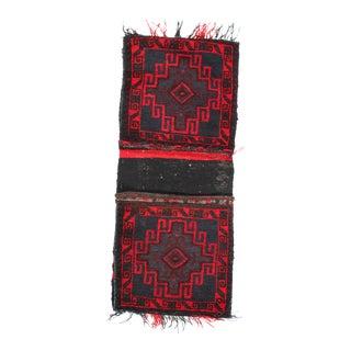 "Pasargad Ny Antique Persian Shiraz Saddlebag Rug - 1'4"" X 4'7"""