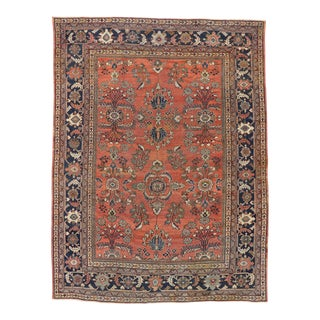 Antique Persian Mahal Rug With Modern English Traditional Style - 08'09 X 11'08 For Sale